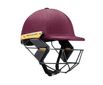 Masuri T Line Steel Junior Cricket Helmet - Maroon