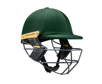 Masuri T Line Steel Cricket Helmet - Green