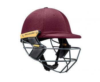 Masuri T Line Steel Cricket Helmet - Maroon
