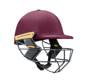 Masuri T Line Titanium Cricket Helmet - Maroon