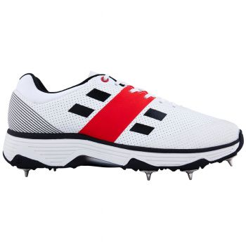 Gray-Nicolls Players Spike Cricket Shoes – White/Black