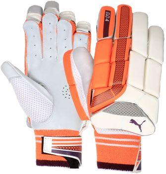 Puma Evo 4 Junior RH Batting Gloves - White/Orange/Purple