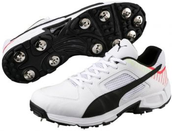 Puma evoSPEED Full Team Cricket Shoes - White/Black