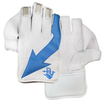 Spartan JB Performance Junior Wicket Keeping Gloves - White/Blue