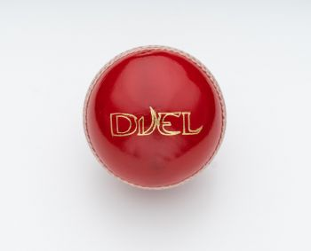 Duel Club Junior Cricket Ball - Red