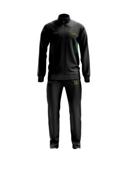 Coombswood CC Duel Players Tracksuit - Black/Green